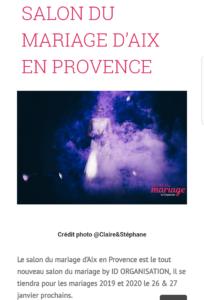 salon du mariage aix en provence 2019
